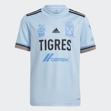 Jersey Visitante Tigres UANL 21/22 Azul Niño Fútbol