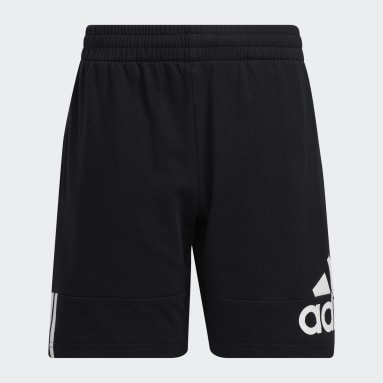 Youth Training Black Badge of Sport French Terry Shorts