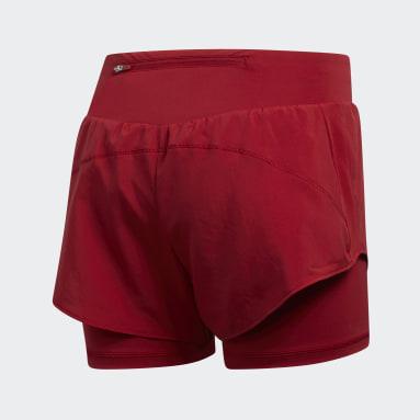 Shorts Adapt to Chaos Granate Mujer Running
