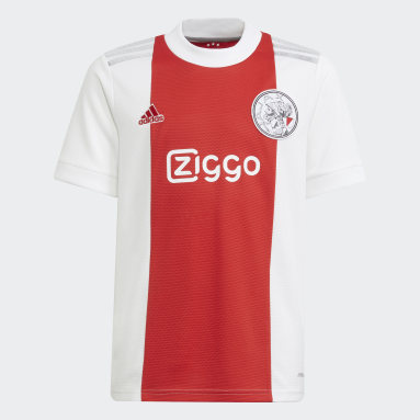 Maillot Domicile Ajax Amsterdam 21/22 Blanc Enfants Football