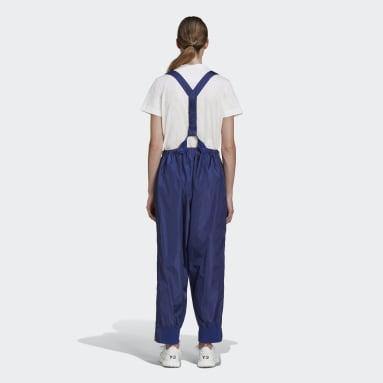 Kvinder Y-3 Blå Y-3 Tech Nylon Silk Suspender bukser