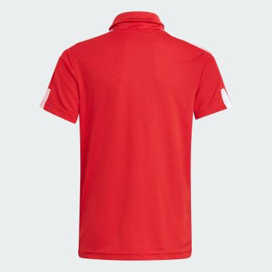 Kids Football Red Squadra 21 Polo Shirt
