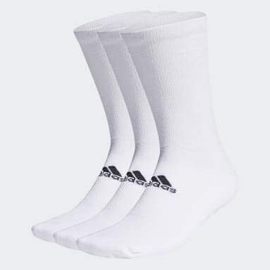 Men Golf White Crew Socks 3 Pairs