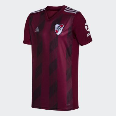 Camiseta Uniforme de Visitante River Plate sin Sponsor Granate Hombre Fútbol