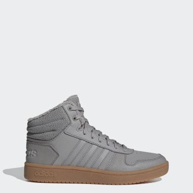 серый Высокие кроссовки Hoops 2.0