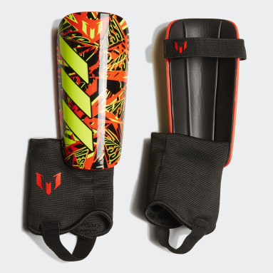 Youth 8-16 Years Football Black Messi Match Shin Guards