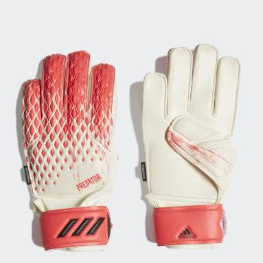 Kids Football White Predator 20 Match Fingersave Goalkeeper Gloves
