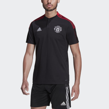 Heren Voetbal Zwart Manchester United Tiro Poloshirt