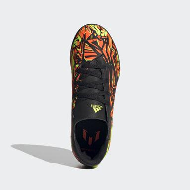 Boys Football Orange Nemeziz Messi.4 Turf Boots