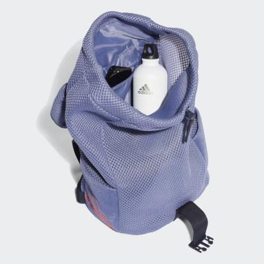 Women Studio Purple Mesh Sport Backpack