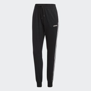 Women Lifestyle Black Essentials 3-Stripes Pants