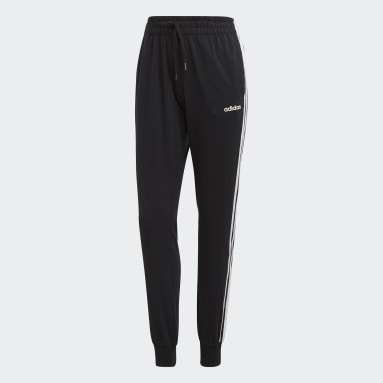 Pantalón 3 Tiras Essentials Negro Mujer Diseño Deportivo