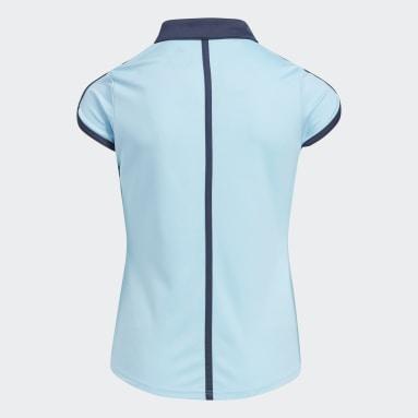 Girls Golf Blue Colorblock Polo Shirt