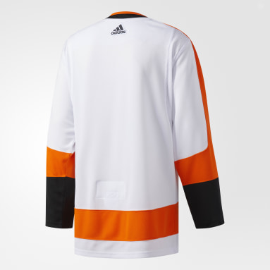 Men Hockey Multicolor Flyers Away Authentic Pro Jersey