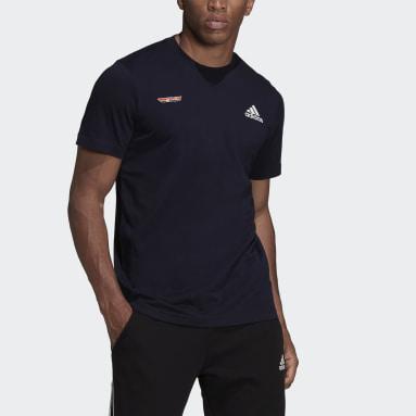 Men TERREX Blue Cotton T-Shirt