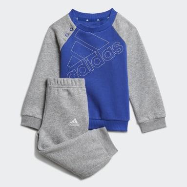 Infants Lifestyle Blue adidas Essentials Logo Sweatshirt and Pants (Gender Neutral)