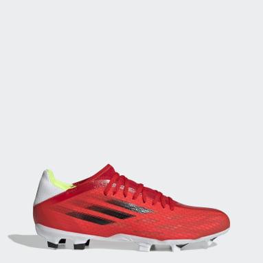 ฟุตบอล สีแดง รองเท้าฟุตบอล X Speedflow.3 Firm Ground