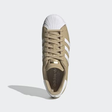 Men's Originals Beige Superstar Shoes