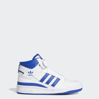 Boys Originals White Forum Mid Shoes