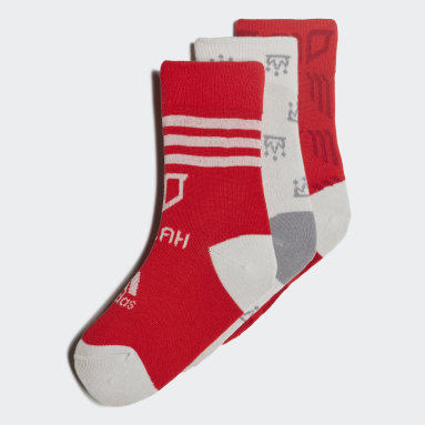 Kids 4-8 Years Sports Red Mo Salah Socks 3 Pairs