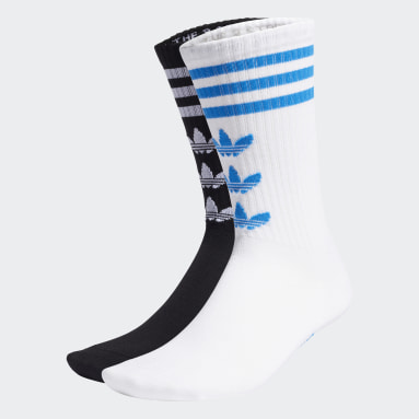 Originals White Trefoil Crew Socks 2 Pairs