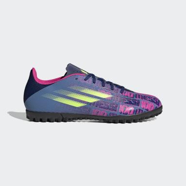 Zapatos de Fútbol X Speedflow. Messi.4 Pasto Sintético Azul Fútbol