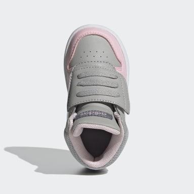 Sapatos Hoops 2.0 Mid Cinzento Criança Basquetebol