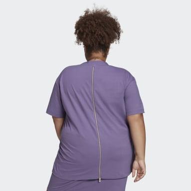 Kvinder Originals Lilla Kortærmet T-shirt
