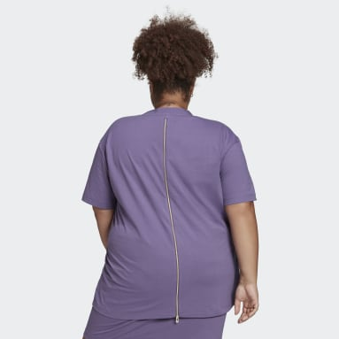 T-shirt Short Sleeve Violet Femmes Originals