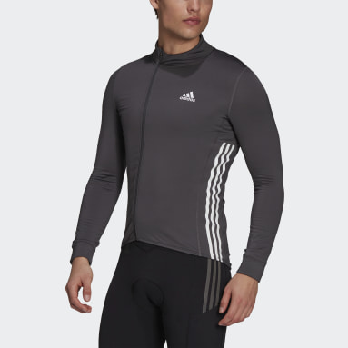 Maillot The COLD.RDY Long Sleeve Cycling Gris Hommes Cyclisme