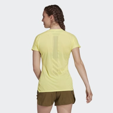 Dames TERREX geel Terrex Parley Agravic Trail Running All-Around T-shirt