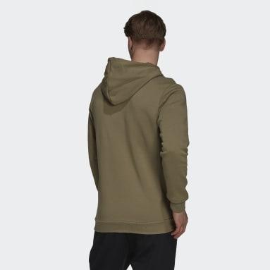 Men's Essentials Green Essentials Fleece Big Logo Hoodie