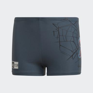 Jungen Schwimmen Boys Marvel Spider-Man Boxer-Badehose Grau