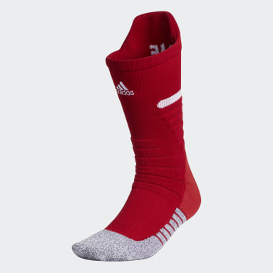 Football Red Adizero Football Cushioned Crew Socks