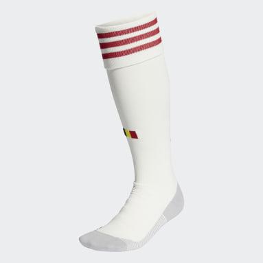 Football White Belgium Away Socks
