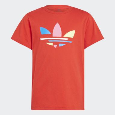 Camiseta Adicolor Rojo Niño Originals