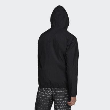 Men Originals Black Adicolor Essentials Trefoil Windbreaker