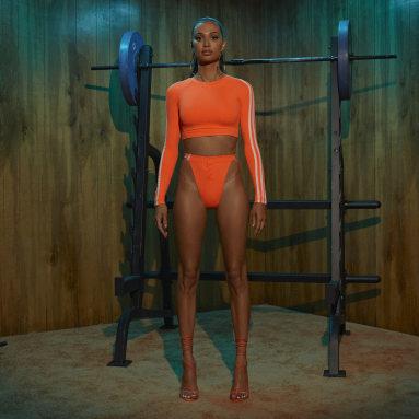 Bas de bikini IVY PARK Snap Orange Femmes Originals