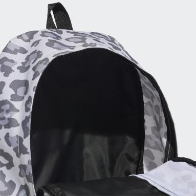 Women Gym & Training Grey Linear Backpack Leopard