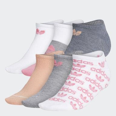 Women's Originals White Graphic No-Show Socks 6 Pairs