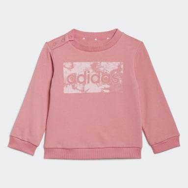 Děti Sportswear růžová Souprava adidas Essentials Sweatshirt and Pants