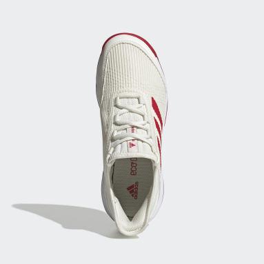 Kids Tennis White Adizero Club Shoes