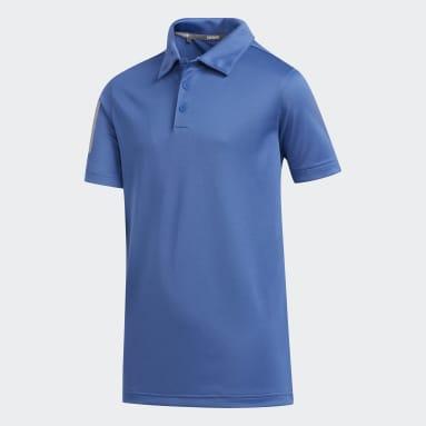 Polo 3 Franjas Azul Niño Golf