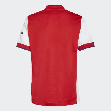 เด็ก ฟุตบอล สีขาว เสื้อฟุตบอลชุดเหย้า Arsenal 21/22