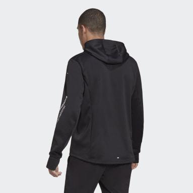 Sweat-shirt à capuche adidas Signature Running Noir Hommes Running