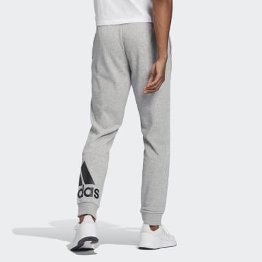 Men's Essentials Grey Essentials French Terry Tapered Cuff Logo Pants