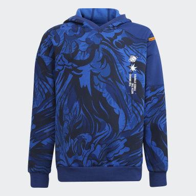 ARKD3 Warm Fleece Hettegenser Blå