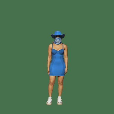 Women Originals Blue Strappy Dress