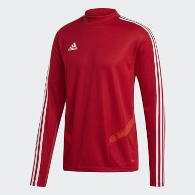 Mænd Fitness Og Træning Rød Tiro 19 træningstrøje