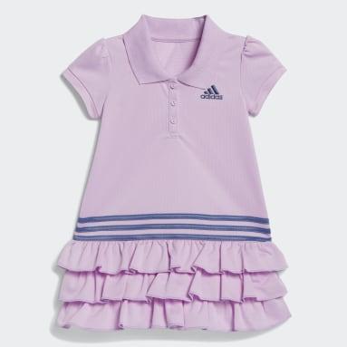 Infant & Toddler Training Purple Polo Dress